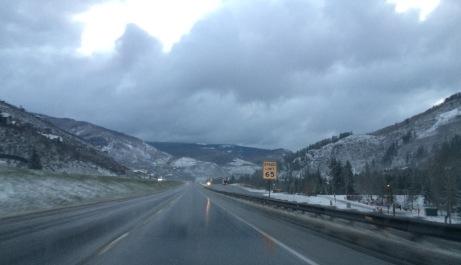 Rockies at dawn